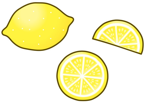 Lemon and sliced lemon