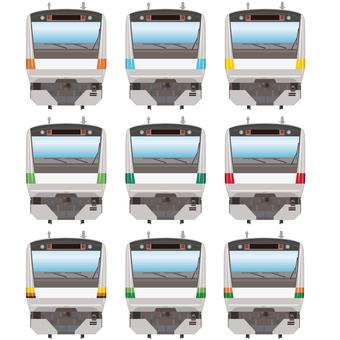 Commuter tram E233 front