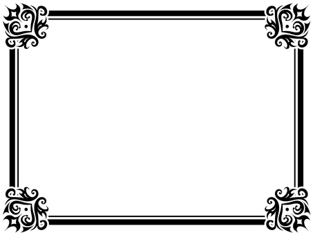 Damask pattern-like frame