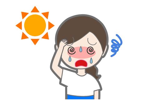 Women with heatstroke