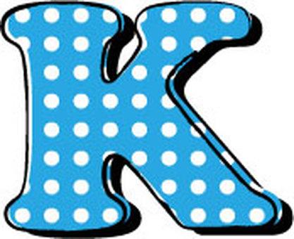 Dotted alphabet K