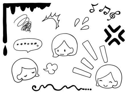 만화 스타일 아이콘