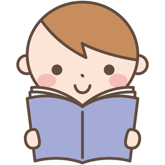 Boys 4 Reading a reading manga book