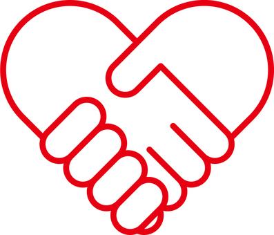 Heart handshake a