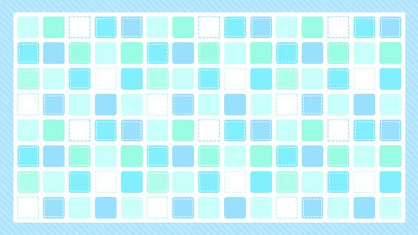 タイル 四角 カラフル ブルー 背景
