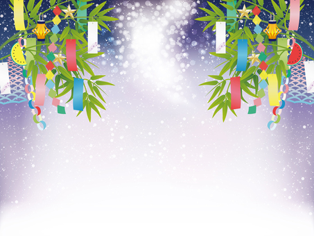 Tanabata ornament and Milky Way image frame 2