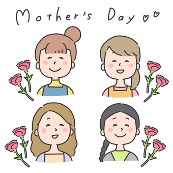 Mother's day illustration set