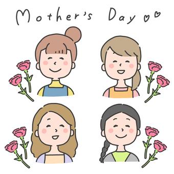 母親節的插圖集