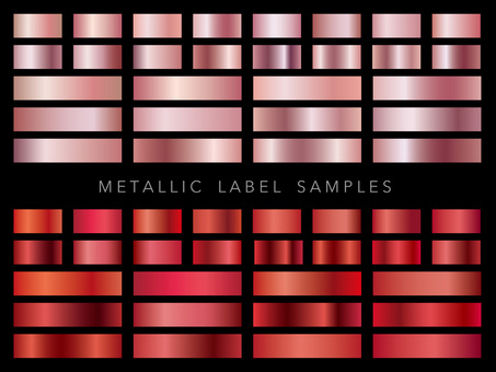 Metallic label Pink & Red set