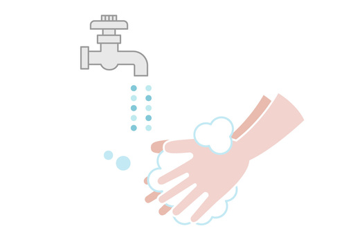 Hand washing and faucet