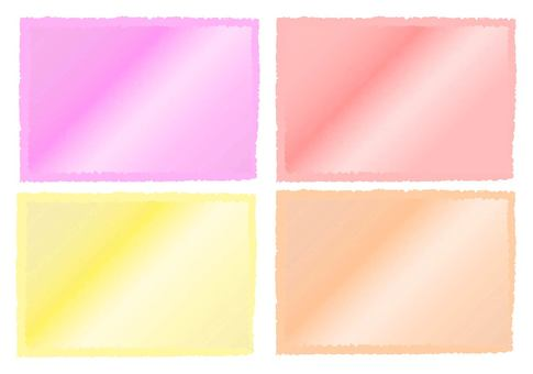 Watercolor frame set 1