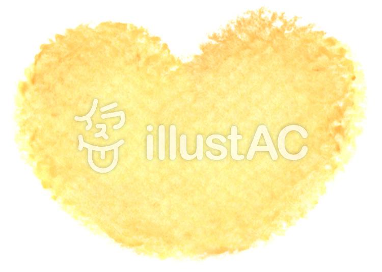 クレヨンハート 黄色のイラスト