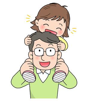 父親節家庭插圖