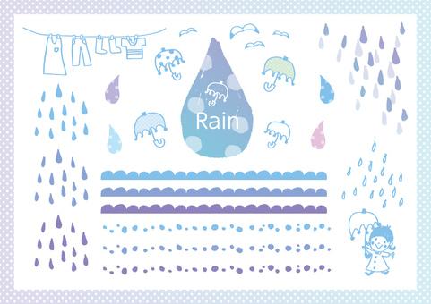Hand-painted rain