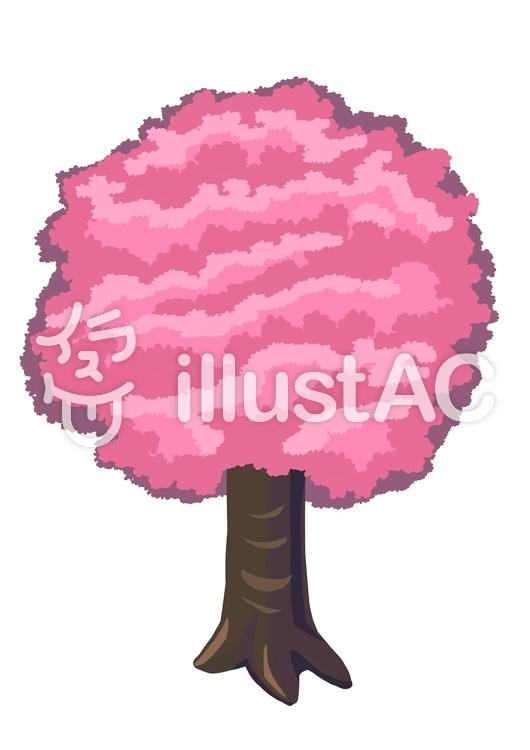 ふわふわした桜の木イラスト No 無料イラストなら イラストac
