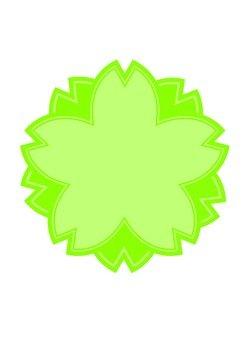 Sakura's mark (green)