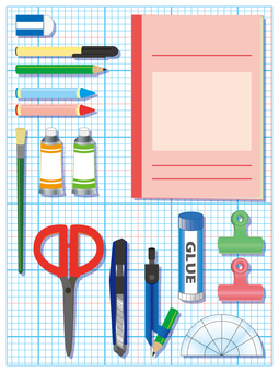 Stationery set _ with grid