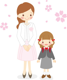 母親和女兒入學儀式