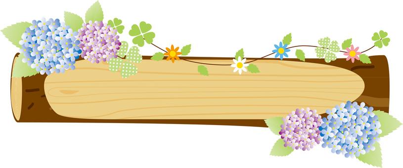 Hydrangea log frame