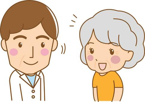 Doctor and patient illustration
