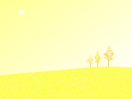 A yellow hill
