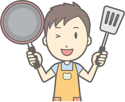 Nursery teacher - frying pan - bust