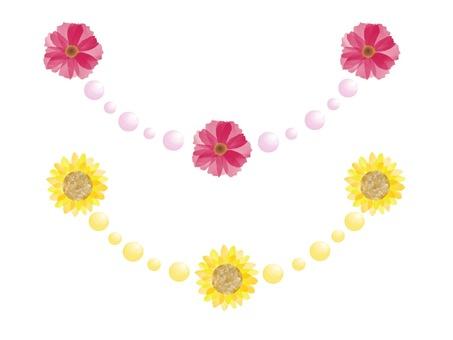 Flower line material