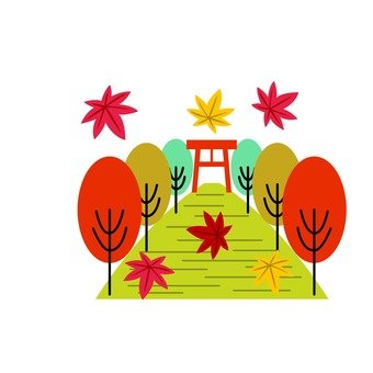 Autumn leaves shrine