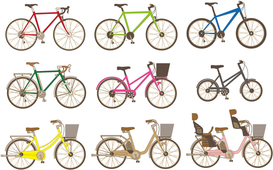 A bicycle assortment