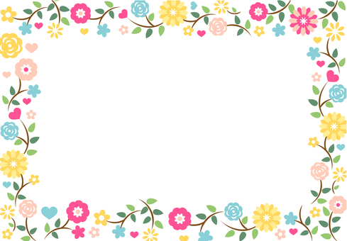 Flower frame message
