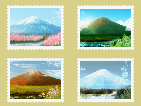 Stamp (Four seasons of Mt. Fuji)