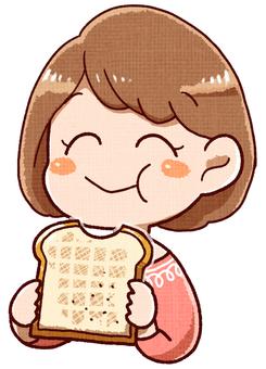 A woman who tastes good bread