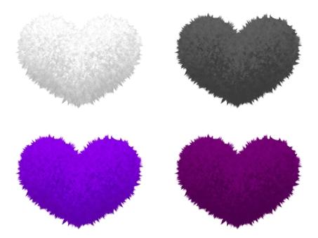 Fluffy Mokomoko Material Heart 3