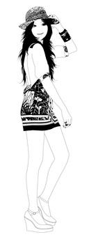 Female illustration 12