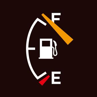Gasoline meter _ full tank _ square