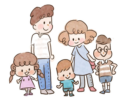 5 people family