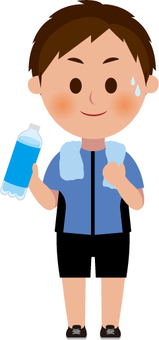 Men with sports water