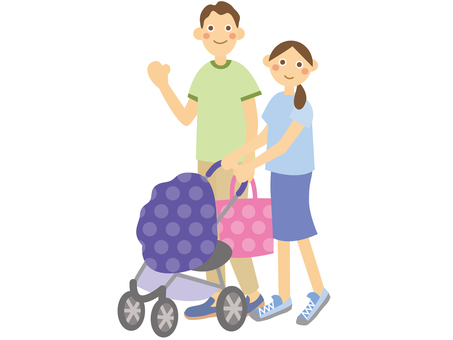 Parent / Child baby stroller _ 2