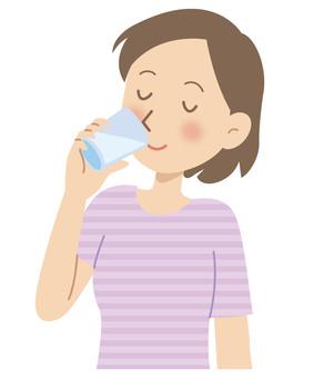 Heat stroke prevention hydration illustration