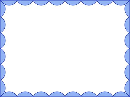 Semicircular pattern frame