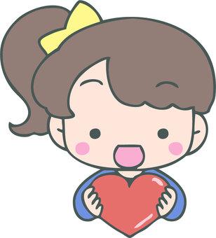 Cheerful heart (girl)