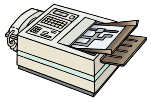 Communication for business FAX instructions