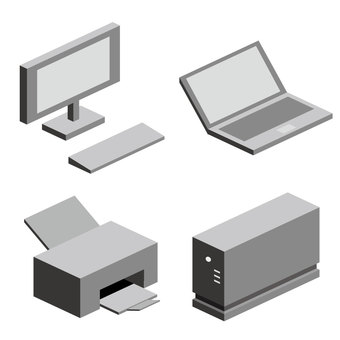 Four personal computer peripheral devices (no wire)