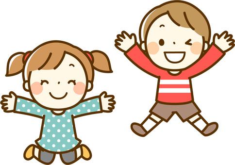 Jumping children (infants)