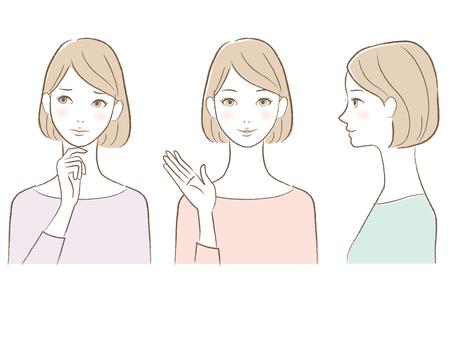 Women in line drawing