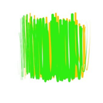 Overcoated green and yellow