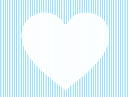 Heart light blue stripe