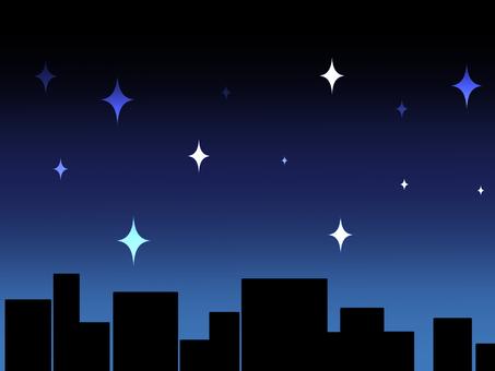 Glittering night sky
