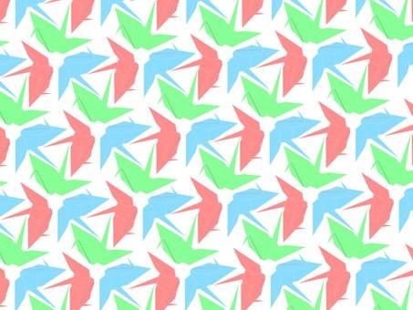 Folding crane three color pattern
