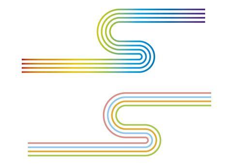 Abstract parts rainbow